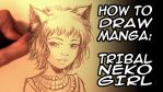 WORK IN PROGRESS VIDEO : TRIBAL NEKO GIRL by Karafactory