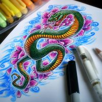 Snake Tattoo Design by Kawiku