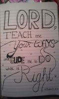Psalm 27:11 by ScrapsterinCal1