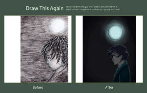 Draw This Again Meme Blue Moon by ThroughMyThoughts