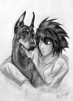 L and doberman by KarinaLoveDubai