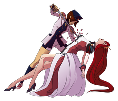 OI Halloween 2013 - Utena and Anthy by hyperionwitch