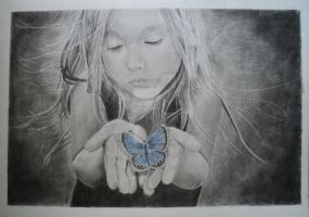 Girl and the Butterfly by AdiLABS