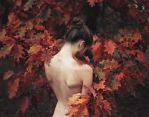 conversation with leaves by baravavrova