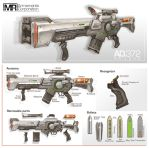 Commission: Railgun Rifle by aiyeahhs