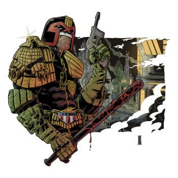 Judge Dredd - Colors by The-Real-NComics