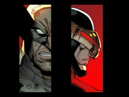 AvX Infinite-- Wolverine vs Cyclops by ReillyBrown