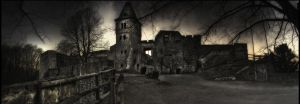 Frankensteins Castle Panorama by Riot23