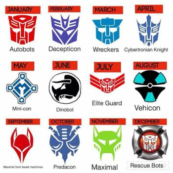 Your month of birth transformers insignia by autoking