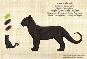 Commission: Aleksandr Ref Sheet by Domisea