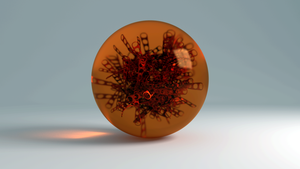 Particle Cluster trapped in Glass by AnthonyRalano