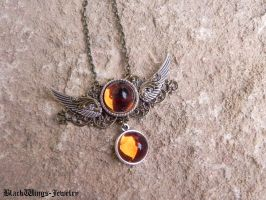 Angel - amber by BlackWings-jewelry