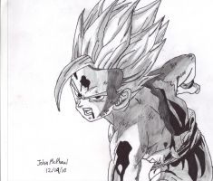 Gohan Father-Son Kamehameha by Johnx13