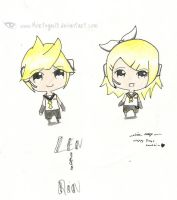 Chibi Rin and Len by Mortegax13