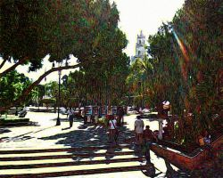 Cathedral Through the Park by TessieLAmour