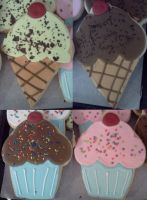 Ice Cream Cones and Cupcakes by Sadeira