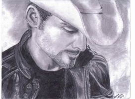 Brad Paisley Sketch by keishacollins