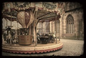 Carousel in Strasbourg by MutterAngst