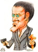 Caricature: Quentin Tarantino by sethness