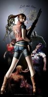 Resident Evil - Claire Redfield Mural by Alex-Redfield