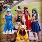 Touhou and Pikachu :D by BakaBakaGirls