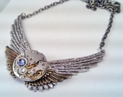 Winged Steampunk Necklace by SteamDesigns