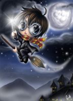 Harry Potter chibi COLORED by ginstar