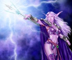 World of Warcraft - Elf 02 by Isra2007