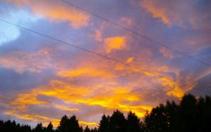 The Sunset in My Front Yard by MelchiorFlyer