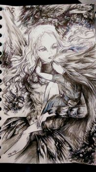 Inktober #day 5 Teresa _ Claymore by TobHige