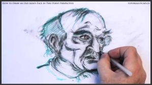 Draw An Old Man's Face In Two Point Perspective 38 by drawingcourse