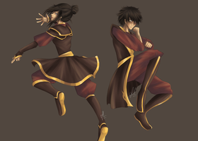 Azula and Zuko by NyammiToast