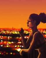 Sunset Cigarette by isdira