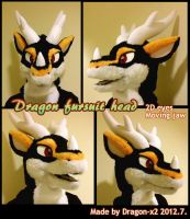 Dragon fursuit head [SOLD] by dragon-x2