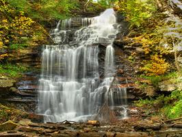 Ricketts Glen State Park 80 by Dracoart-Stock