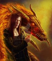Vince with the Fire Dragon by ArticTiger