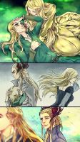 Ellerian, Thranduil and Legolas by Purple-Meow