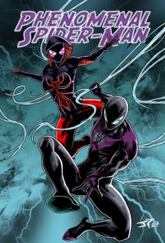 Phenomenal Spider-Man and Scarlet Gwen Cover by JonathanPiccini-JP