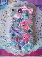 Fairy Kei Iphone 4 Decoden Case by lessthan3chrissy