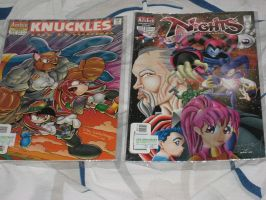 Knuckles The Echidna #9 and NiGHTS Into Dreams #5 by tanlisette