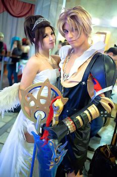 Final Fantasy couple by GarnetTilAlexandros