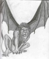 Bat-Winged Lion by Link-Inc