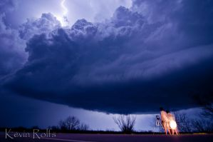 Nighttime Supercell by Bvilleweatherman