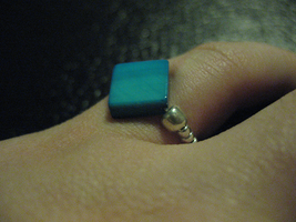 Crafted Nacre Ring Blue by sampdesigns