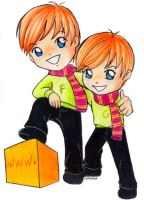 Fred and George SD by o-Marin-o