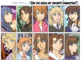 Guess my favorite characters, part one by Tora20