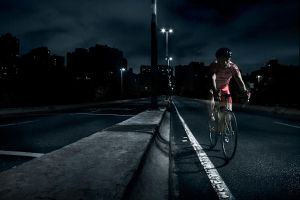 cycling warrior and the dark.. by leocavallini
