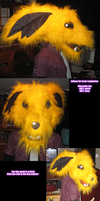 Jolteon fursuithead by Grethe--B