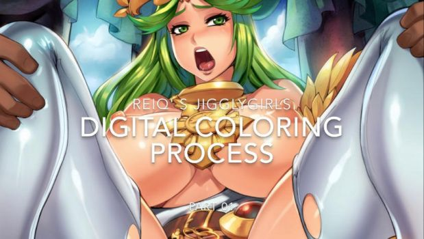 Jigglygirls Digital Painting Process video by reiq