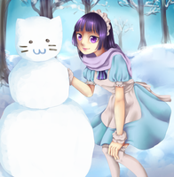 PoP Fuyu: Snowman? Snowcat please! by nuxi-chan